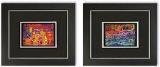 2 Bilder Kunstdrucke Friedensreich Hundertwasser Galeriebilder mit Rahmen