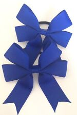 Girls  School  Royal Blue Hair Bow Bobbles Sold In Pairs Handmade