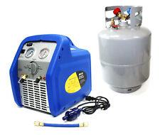 34hp Hvac Ac Vacuum Refrigerant Recovery Machine R410a R134a R12 With50lb Tank