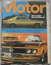 Motor magazine 27/10/1973 featuring Reliant Scimitar GTE, Triumph Stag, Opel Man
