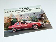 1978 American Motors AMC Pacer Gremlin Hornet Matador Preview Brochure