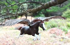 Customized Breyer traditional jumping horse pegasus with real pheasant wings CM