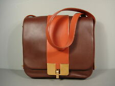 Marc Jacobs Brown Medium Leather Handbag Cross Body Messenger Shoulder Bag New