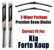 Wipers 2-Pack Premium Beam Wiper Blades fits 2014+ Kia Forte Koup - 19280/130