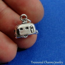 .925 Sterling Silver CAMPER RV CHARM Airstream Trailer Motor Home PENDANT