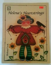 Vintage 1994 Helena's Heartstrings by Helena Cook Tole Painting Instruction Book