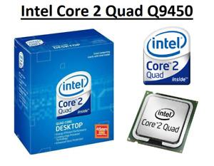 Intel Core 2 Quad Q9450 SLAWR Quad Core Processor 2.66GHz,Socket LGA775, 95W CPU