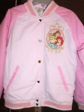 Disney Store Princesses Varsity Jacket Girl Size 5/6  Like New Cond.Worn 1 time