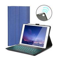 """AU For iPad 7th Gen 10.2"""" 2019 Backlit Bluetooth Keyboard Case w/Pencil Holder"""