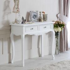 Console in Legno Bianco Tavolino da toeletta shabby chic vintage camera da letto sala mobili