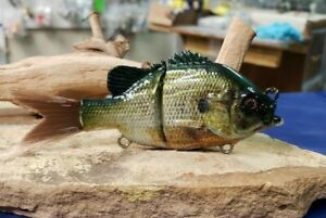 Custom Wrapped and Painted 1.3 oz Glide Swimbait ( Bluegill  )
