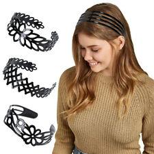 Women's Simple Black Plastic Hair Band Girls Headband Hairhoops Hair Accessories