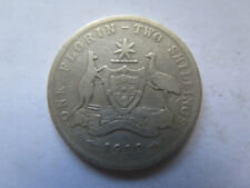 1912 AUSTRALIAN SILVER FLORIN TWO SHILLINGS King George V COLLECTABLE CONDITION