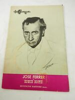 The Playgoer Jose Ferrer as Edwin Booth Huntington Hartford Theatre Oct.1938