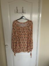 Ghost  Patterned Blouse Size L