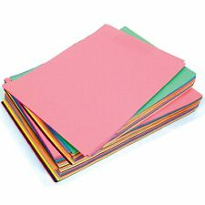 Sugar Paper A3 Assorted Coloured Pages - Pack of 50 Sheets - A3 Size - By Ivy UK