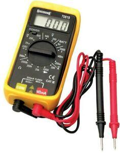 Sidchrome Digital Minimeter Multimeter 12v Pocket Size Perfect for Toolbox