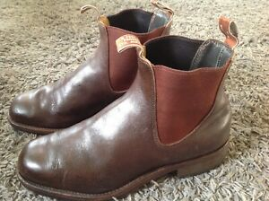 RM WILLIAMS MENS LEATHER CHELSEA BOOTS  UK 10 H