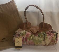 Patricia Nash Heritage Collection Floral Print Lione Twisted Handle Satchel Bag