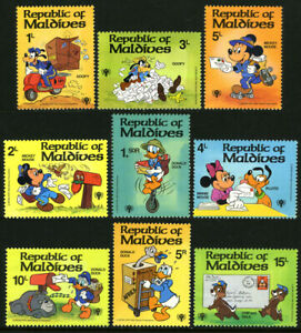 Maldives 826-834,MNH.Disney characters:Goofy,Mickey Mouse,Minnie mouse,Chip,1979