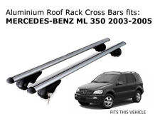 Aluminium Roof Rack Cross Bars fits MERCEDES BENZ ML 350 2003-2005