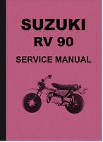 Suzuki RV 90 Reparaturanleitung Montageanleitung Service Manual RV90 Repair