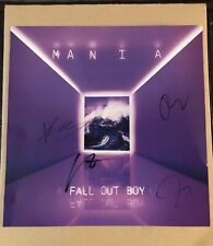 SIGNED Fall Out Boy 'Mania' Tour Lithograph LE 1500 Autograph Album Cover Art