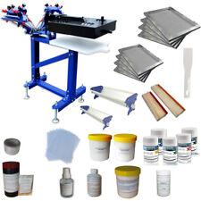 Screen Printing Starter Hobby Materials Kit Press Machine Attach Flash Dryer