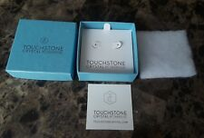 Touchstone Crystal by Swarovski earing gift box w papers,cotton, earing card NEW