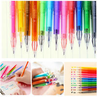 12 Pcs Candy Color Diamond Gel Pen Creative Gift School Supplies Colored Pens