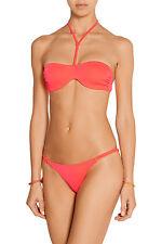 Agent Provocateur L'Agent Liiana Neon Coral Bikini Bra Brazilian Brief Set S L