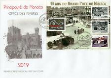 Monaco 2019 FDC F1 Grand Prix 90 Yrs Ayrton Senna Hill 4v M/S Cover Cars Stamps