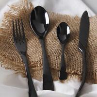 Black Cutlery Set Stainless Steel Western Food Tableware Sets Dinnerware 4Pcs