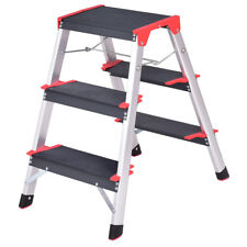 New Aluminum Ladder 3 Step Folding Platform Work Stool Lightweight Home Kitchen