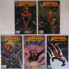 Badger Saves the World 1-5 1 2 3 4 5 IDW Comic Lot Mike Baron, Kevin Caron 2007