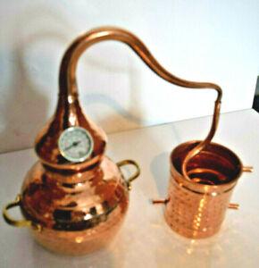 Gebrauchte Destille Alambic Classico aus Kupfer 2 Liter mit Thermometer