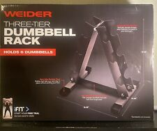 Weider Three Tier Dumbbell Weight Bar Utility Rack Tree Stand