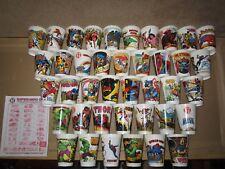 All 40 Wide Mouth - SLURPEE Cups 1977 (7-Eleven 11) Hulk, FF, Spider-Man, Surfer