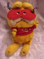 "Vintage Garfield Cat Masked Bandit Dakin 10"" Plush Soft Toy Stuffed Animal"