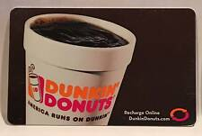 Dunkin' Donuts Cup of Hot Coffee Brown Background 2013 Gift Card FD-32529