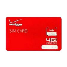 Verizon Wireless Micro 4G Lte Nfc 3Ff Sim Card - Lot of Ten(10) Sim Cards