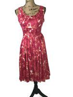 Dana Buchman Women's Empire Floral Dress Sleeveless Scoop Neck Size 6