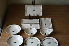 JAPANESE ASIAN SUSHI SET  PLATES BOWLS TRAYS 10 PIECES PORCELAIN NEW W/STICKERS
