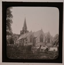HURSLEY CHURCH WINCHESTER / ORIGINAL PHOTOGRAPHIC GLASS MAGIC LANTERN SLIDE