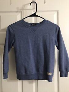 POLO RALPH LAUREN BOYS Sweatshirt Sweater Pullover - Blue - SIZE 7 - EUC!!!!