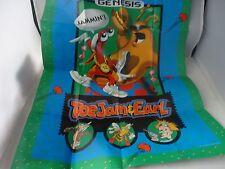 Toejam & Earl Sega Genesis Foldable Promo Poster Insert Toe jam and an Earl