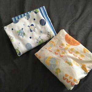 SHERIDAN BUBBA BLUE ROYAL DOULTON baby nursery cot linen blanket bundle 4 items