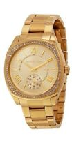New Michael Kors MK6134 40mm  Gold Plated Dial Stainless Steel Women's Watch