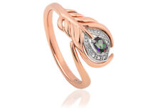 NEW Welsh Clogau 9ct Rose Gold Peacock Throne Topaz Ring £180 off! SIZE R