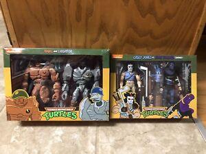 NECA Teenage Mutant Ninja Turtles Casey Jones/Foot Soldier & Traag/Granitor Lot